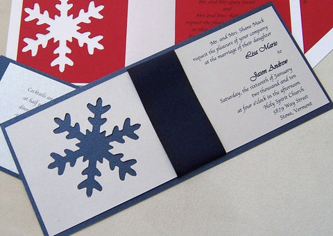 Stylish SnowFlake Invitation Set