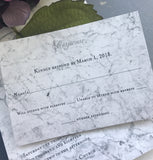 Chrome Shimmer Marble Invitation Set/Suite