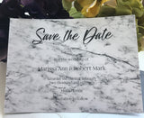 Modern Marble Save the Date