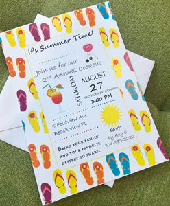 Summer Flip Flop Invitation
