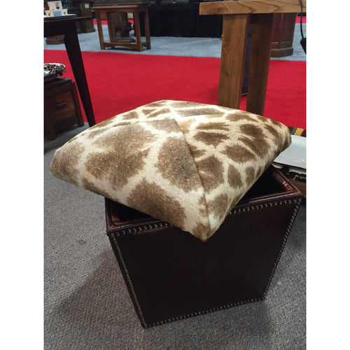 Genuine Giraffe Storage Ottoman - Trophy Room Collection