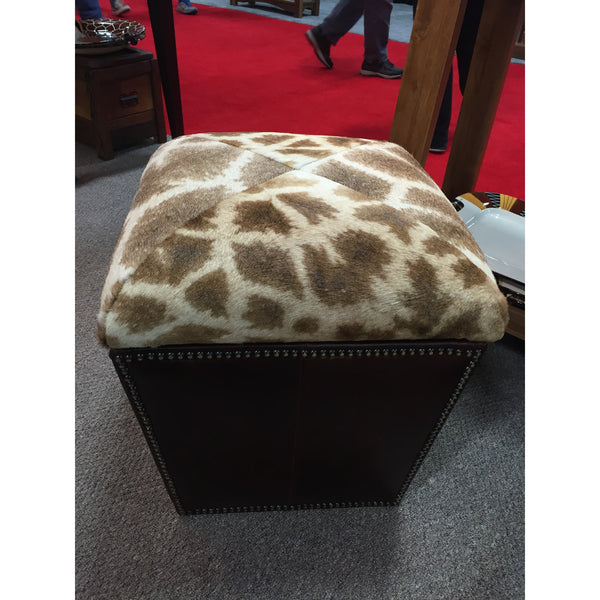 Customer's Own Material Storage Ottoman- 0763 Model. - Trophy Room Collection  - 1