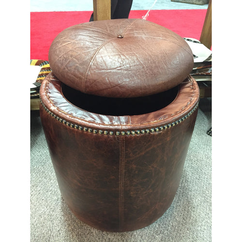 Elephant Tabac Storage Ottoman - Trophy Room Collection