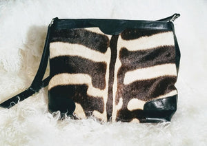Genuine Zebra Purse- The Maddie - Trophy Room Collection