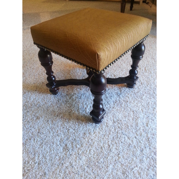 Ostrich Leather Stool - Trophy Room Collection