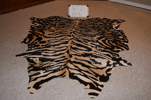 Siberian Tiger Print on Cowhide