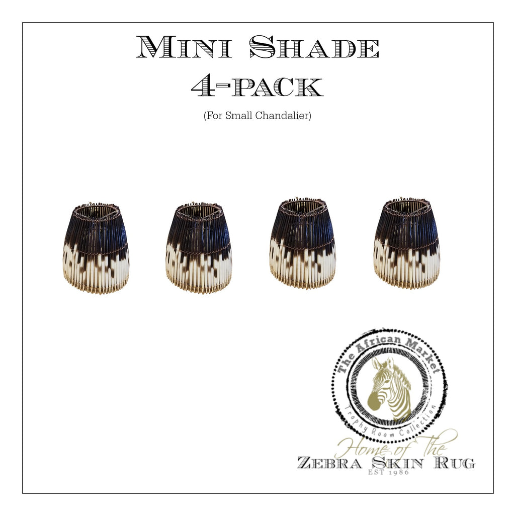 MINI PORCUPINE SHADES FOR SMALL CHANDELIER (4-pack) - Trophy Room Collection