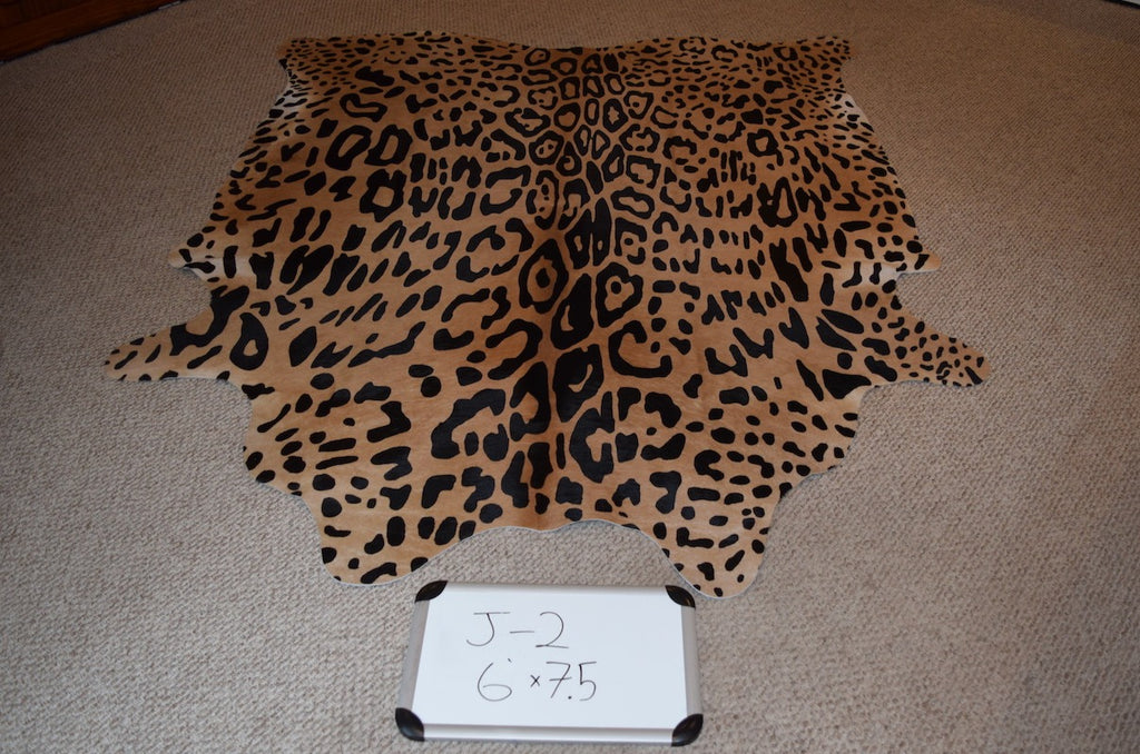Jaguar Printed on Cowhide Rug