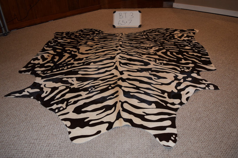 Tiger Print on Cowhide
