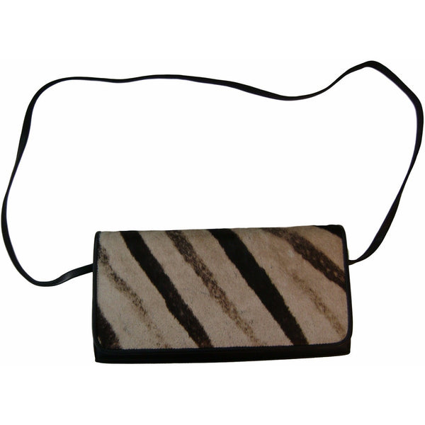 Genuine Zebra Clutch - Trophy Room Collection