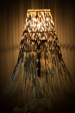 LIGHT SHADE - PORCUPINE QUILL - ROUND (Free Form) - Trophy Room Collection
