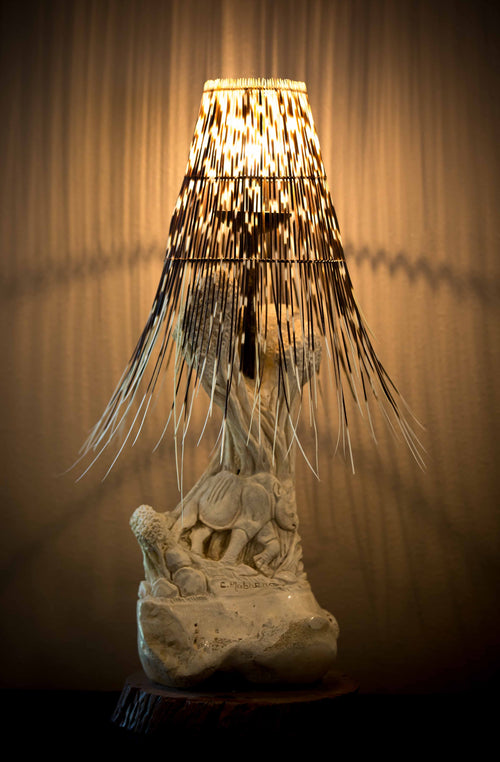 LIGHT SHADE - PORCUPINE QUILL - ROUND (Free Form)