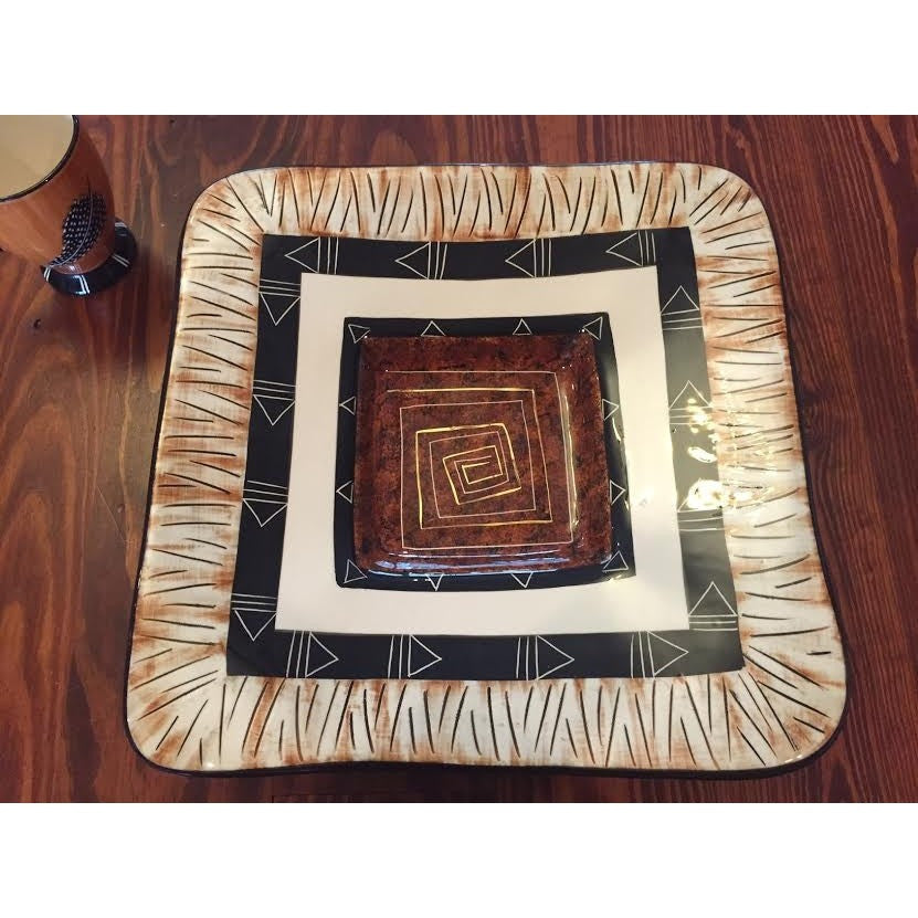 "XL Square Bowl (15.5"" X 15.5"") - Trophy Room Collection"