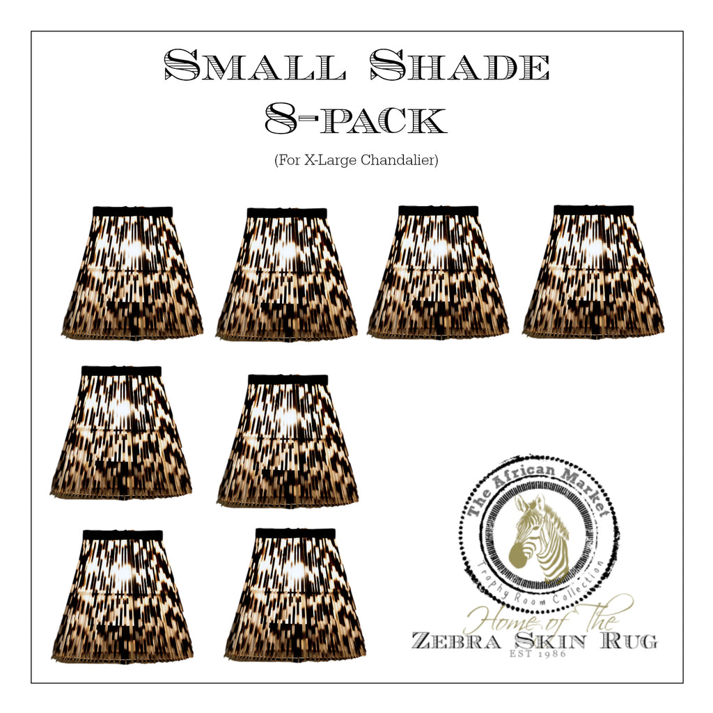 SMALL PORCUPINE SHADES FOR XL CHANDELIER (8-pack) - Trophy Room Collection
