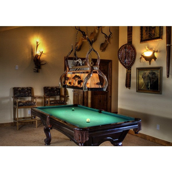 Pool Table Light African Theme - Trophy Room Collection