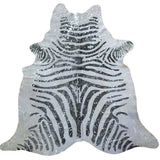 Zebra Stencil with Silver Devore Metallic - Trophy Room Collection