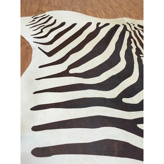 Dark Brown On Cream Cowhide - Trophy Room Collection  - 3
