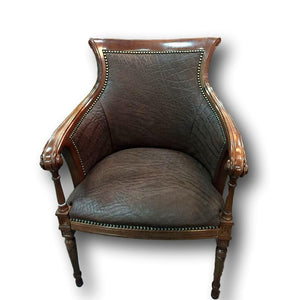 Carved Biedermire Elephant Chair - Trophy Room Collection