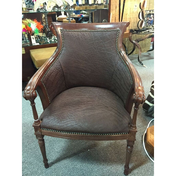 Carved Biedermire Elephant Chair - Trophy Room Collection  - 1