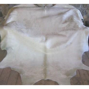 COWHIDE - NATURAL SOLID WHITE - Trophy Room Collection