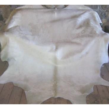 COWHIDE - NATURAL SOLID WHITE - Trophy Room Collection  - 2
