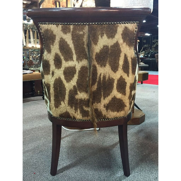 Carved Biedermire Giraffe Chair - Trophy Room Collection  - 2