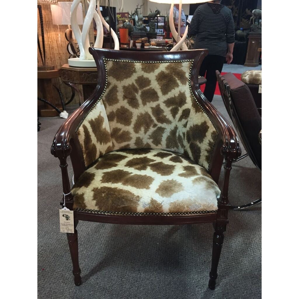 Carved Biedermire Giraffe Chair - Trophy Room Collection  - 1