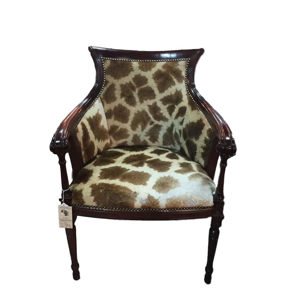 Carved Biedermeier Giraffe Chair - Trophy Room Collection