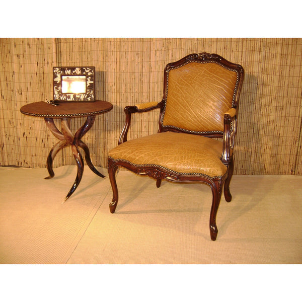 Carved Victorian Chair - Antique Saddle - Trophy Room Collection