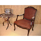 Carved Victorian Chair - Elephant Tabac - Trophy Room Collection
