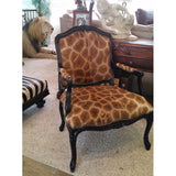 Carved Victorian Giraffe Chair - Trophy Room Collection