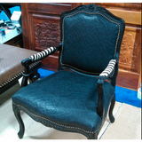 Customer's Own Material Carved Victorian Chair - Trophy Room Collection