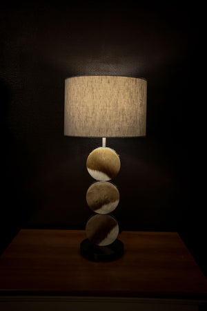 CLOSEOUT : Springbok table lamp with linen shade - Trophy Room Collection