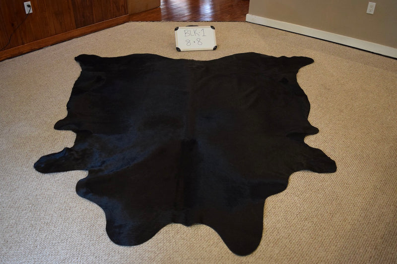 Natural Black Cowhide