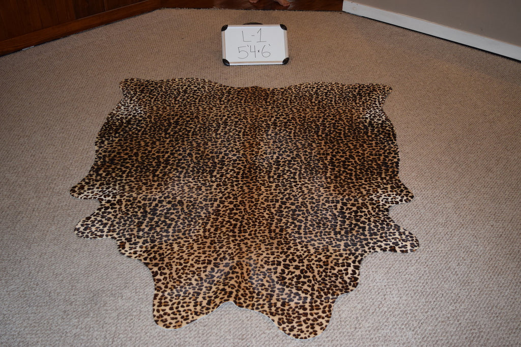 Leopard Printed On Cowhide