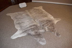 Grey Brindle Natural Cowhide