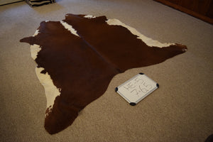 Hereford Natural Cowhide