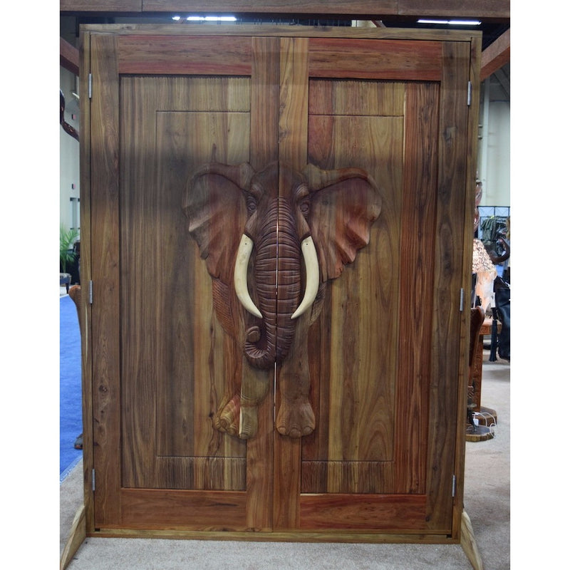 Massive Double Sided Carved Doors - Trophy Room Collection