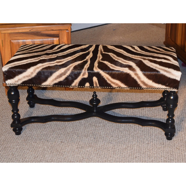Exposed Leg Bench- Zebra - Trophy Room Collection