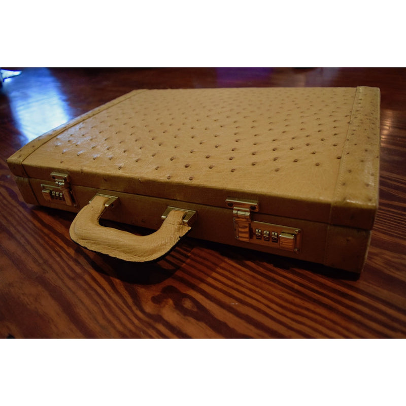 Ostrich Briefcase- Two Color Options Available! - Trophy Room Collection