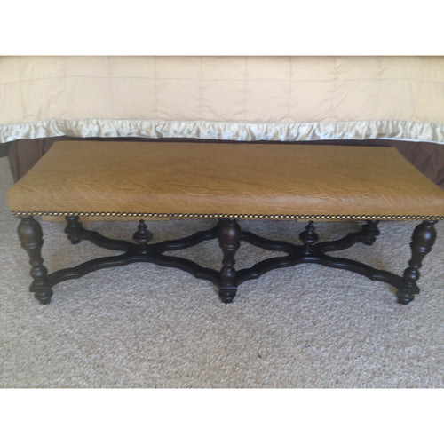 Large Genuine Elephant Bench - Trophy Room Collection