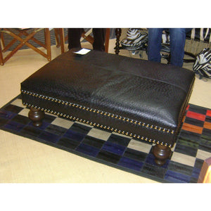 OTTOMAN - Ostrich Leather - Trophy Room Collection