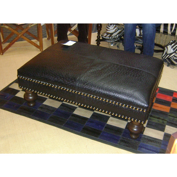 Ostrich Leather Ottoman