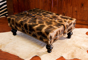 OTTOMAN - Genuine Giraffe (XL) - Trophy Room Collection