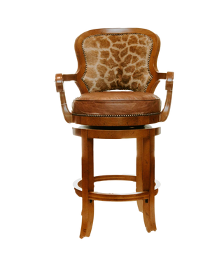 Giraffe bar stool SHOW SAMPLE - Trophy Room Collection