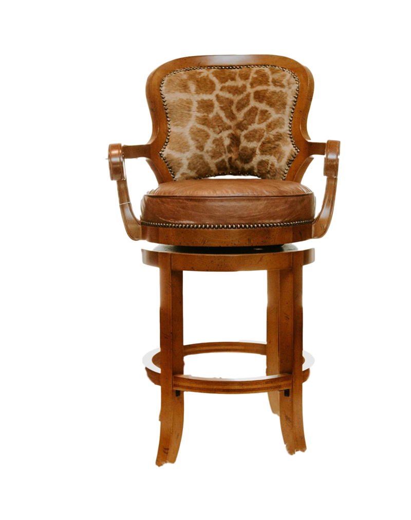 Giraffe bar stool - Trophy Room Collection