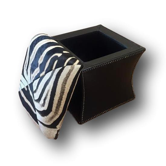 OTTOMAN - Zebra Storage - Trophy Room Collection