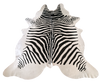 COWHIDE - Black On Cream Zebra Stencil - Trophy Room Collection