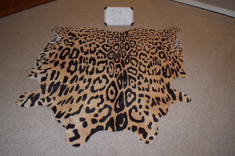 Jaguar Printed On Cowhide