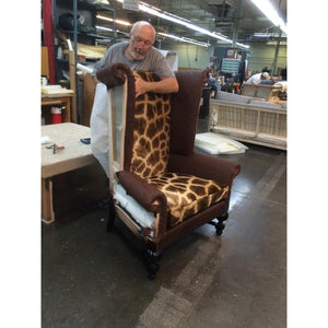 Customer's Own Material Wingback King Chair - Trophy Room Collection